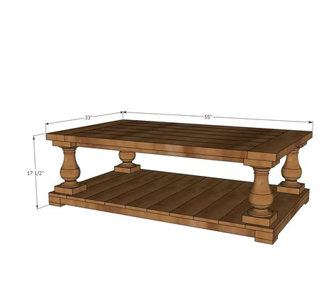 Balustrade Coffee Table Diy Typical Dimensions