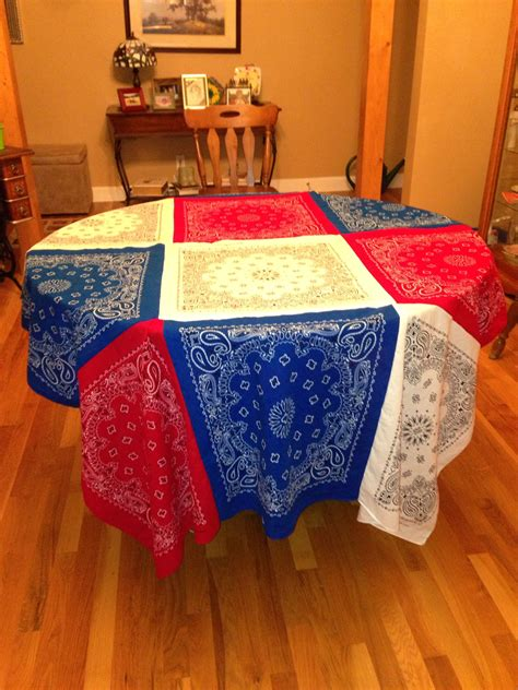 Bandana Table Cover Diy