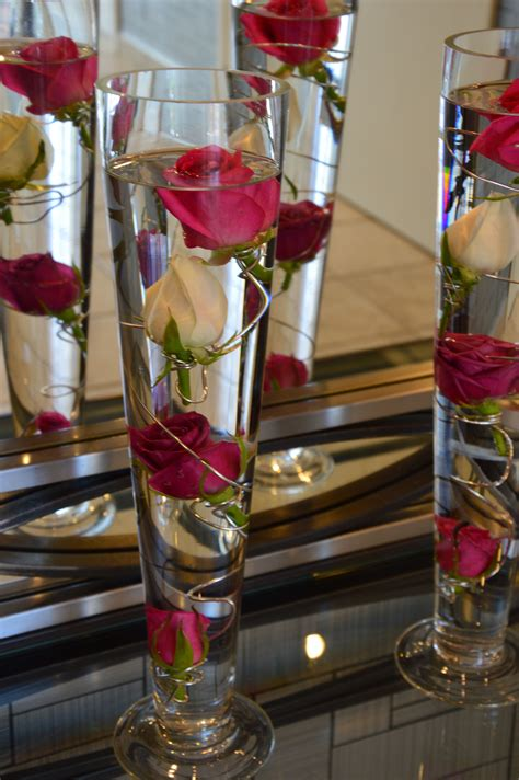 Banquet Table Decorations In Vases