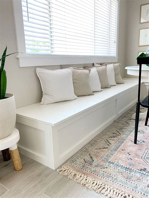 Banquette Bench With Storage Diy