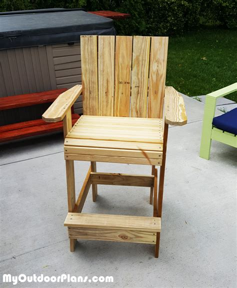 Bar Adirondack Chair Woodworking Plans