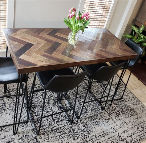 Bar Height Dining Table DIY