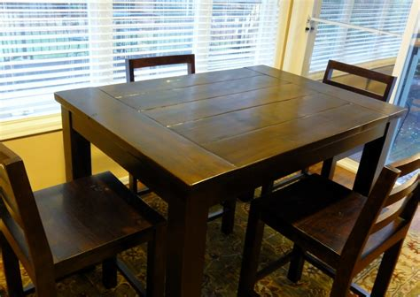 Bar Height Kitchen Table Plans