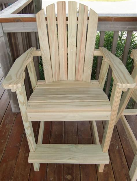 Bar High Chair Woodworking Plans