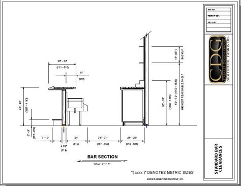 Bar Plans And Dimensions