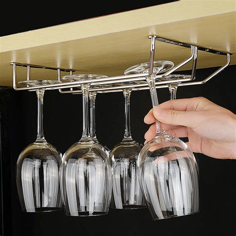 Bar supplies wine glass rack Image