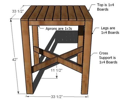 Bar-Height-Patio-Table-Plans