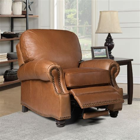 Barcalounger Black Leather Recliner