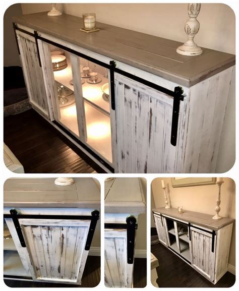 Barn Door Buffet Table DIY