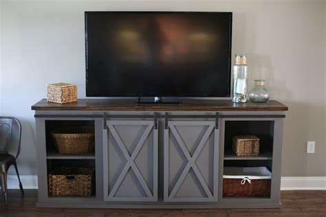 Barn Door Entertainment Center Free Plans
