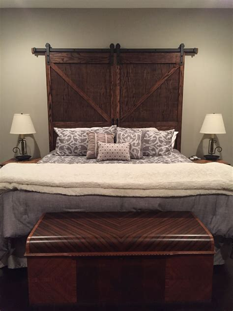 Barn Door Headboard King Plans