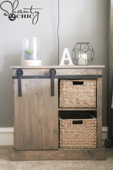 Barn Door Nightstand Diy