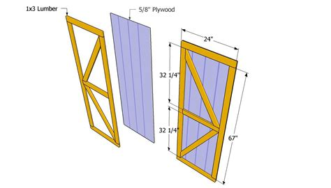 Barn Door Plans For Shed
