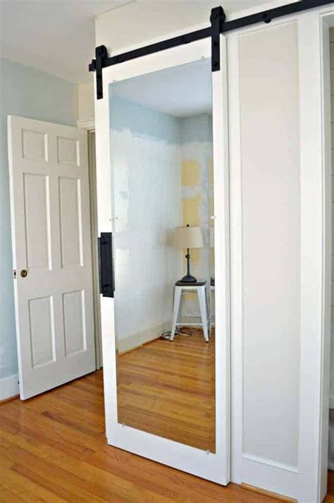 Barn Door With Mirror Diy