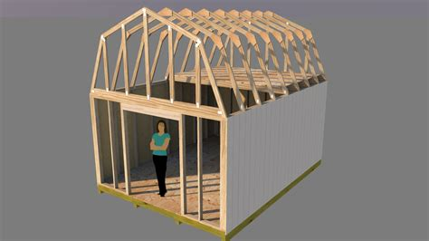 Barn Type Shed 12x16 Plans Free