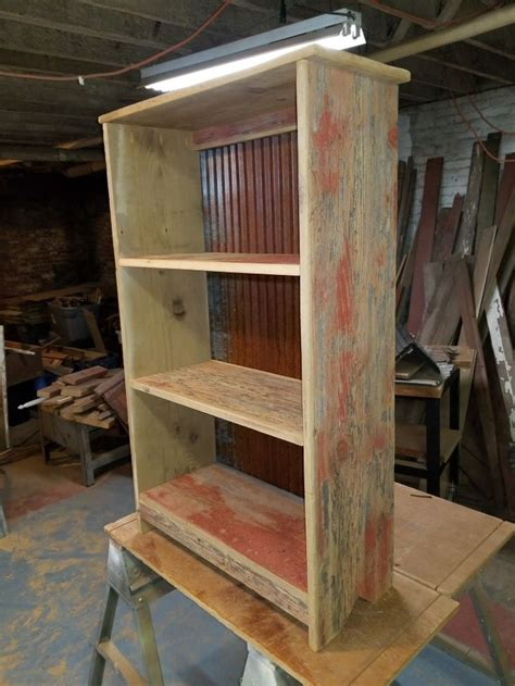 Barn Wood Bookshelf Diy Into A Aramoire