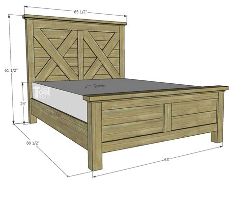 Barn Wood Queen Bed Frame Plans