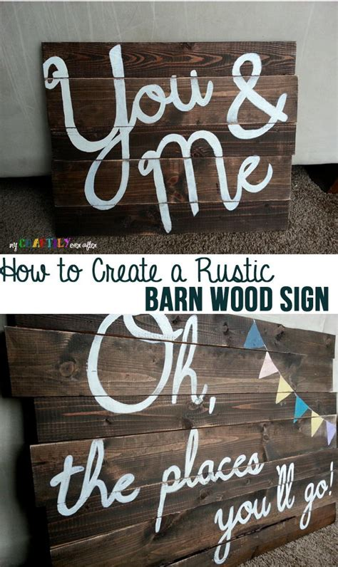 Barn Wood Signs Diy