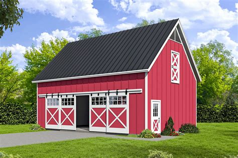 Barn-Style-Garage-With-Loft-Plans
