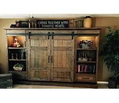 Best Barn door entertainment cabinets