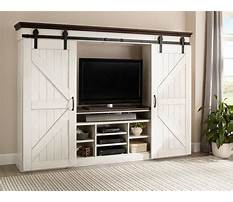 Best Barn door entertainment center hardware