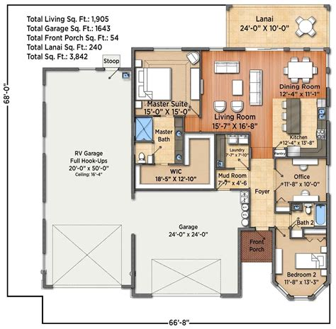Barndominium Floor Plans With Rv Garage