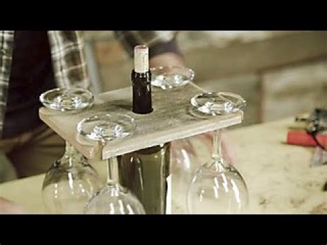 Barnwood Builders Diy Wine Glass Holder