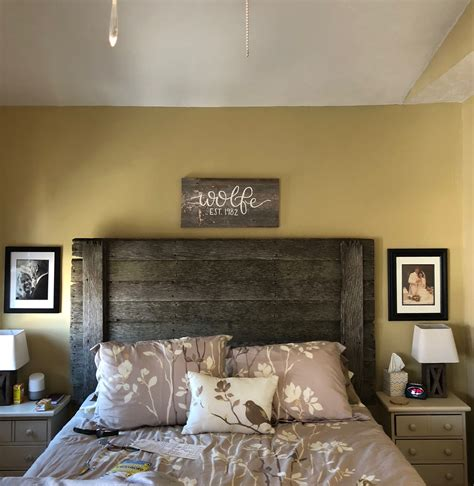Barnwood Headboard Diy Upholstered