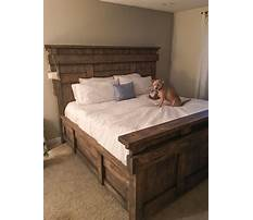 Best Barnwood bed frame plans