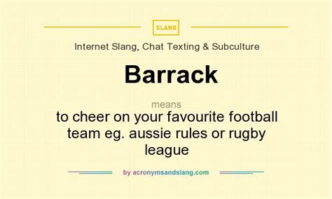 Barrack Definition Aussie