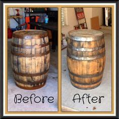 Barrel Planters Refinishing