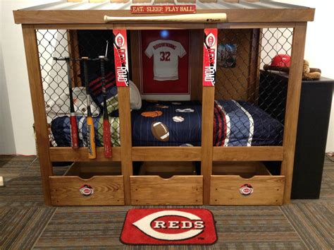 Baseball Dugout Bed Diy Rail