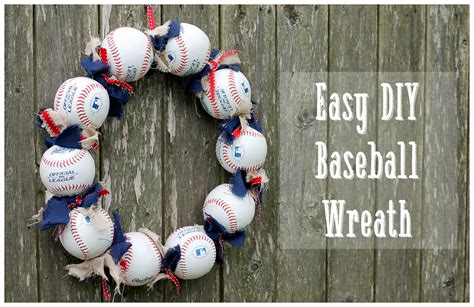Baseball Wreath Diy