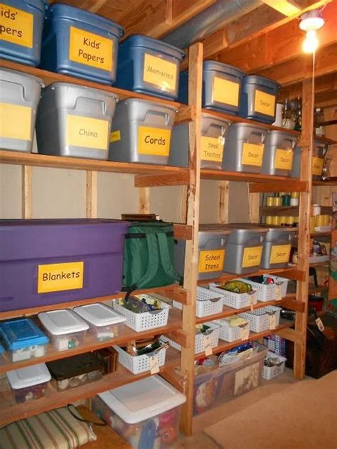 Basement Organization Diy Storage Rack