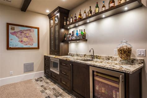 Basement Wet Bar Floor Plans