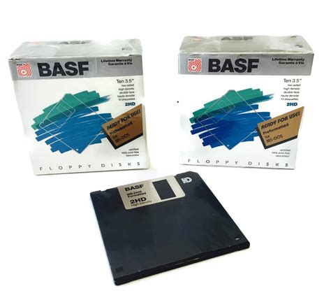 Basf 3.5' 2hd Preformatted for Ms-dos Floppy Disk 2 Packs of 10