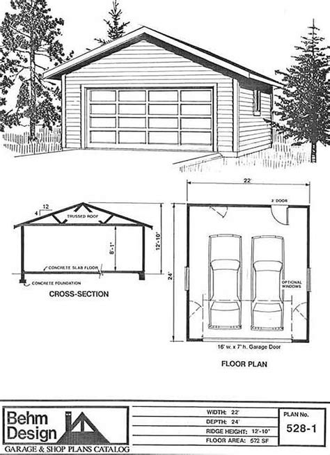 Basic 2 Car Garage Plans