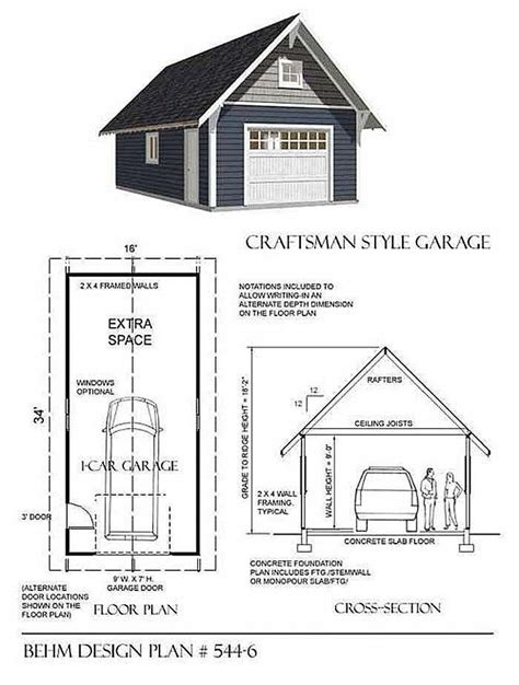 Basic Garage Plans Behm Plan 400