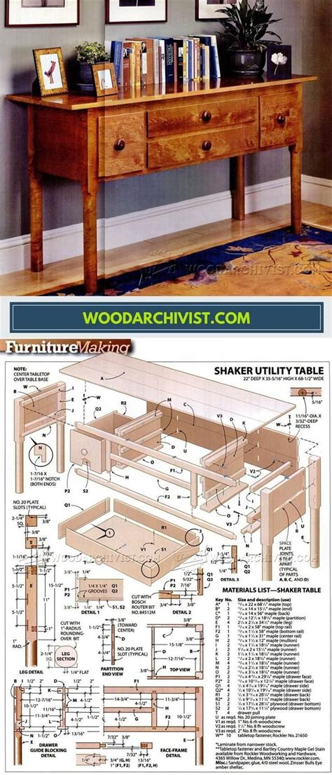 Basic Utility Table Plans