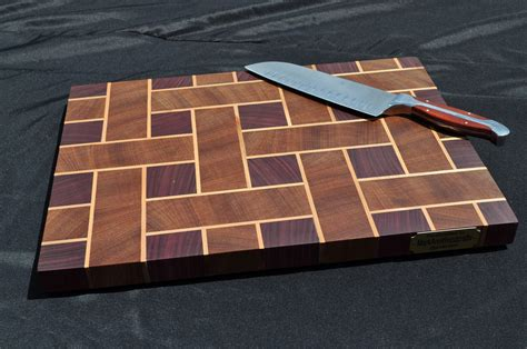Basket Weave Cutting Board Plans