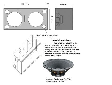 Bass Guitar Speaker Cabinet Design Plans