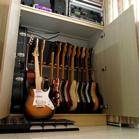 Bass Guitar Storage Diy Room