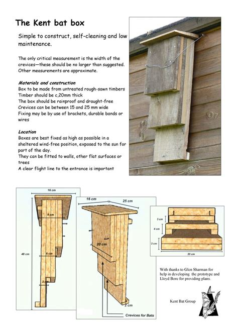 Bat Box Plans Pdf Uk
