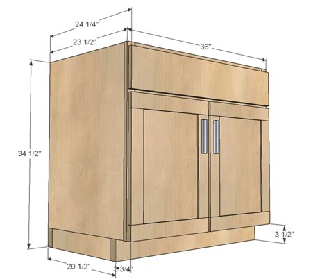 Bathroom Kitchen Sink Base Cabinet Plans