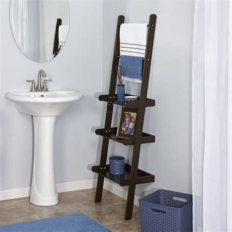 Bathroom Ladder Toilet Shelf