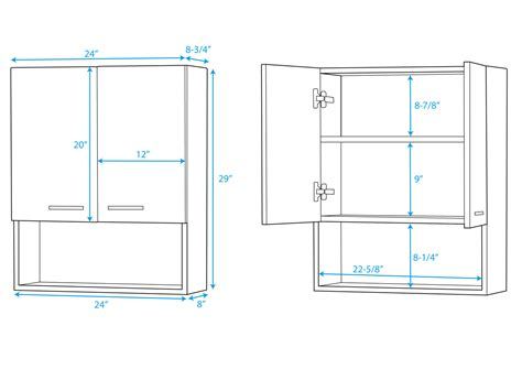 Bathroom Wall Cabinet Dimensions