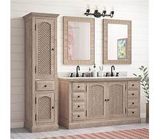 Best Bathroom vanity with linen cabinet