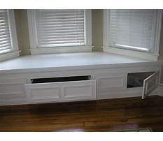 Best Bay window benches with storage plans