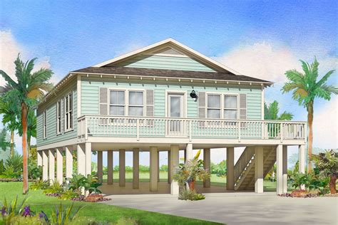 Beach Cottage Plans On Pilings