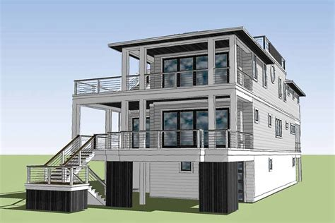 Beach Cottage Plans With Rooftop Deck